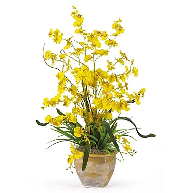 Nearly Natural 1005-YL Dancing Lady Floral Arrangements, Yellow