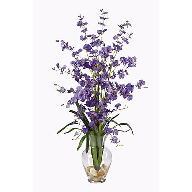 Nearly Natural 1073-PP Dancing Lady Floral Arrangements, Purple