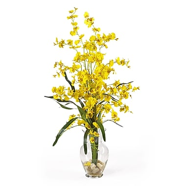 Nearly Natural 1073-YL Dancing Lady Floral Arrangements, Yellow