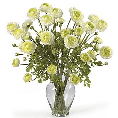 Nearly Natural 1087-CR Ranunculus Floral Arrangements, Cream