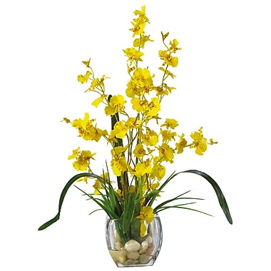 Nearly Natural 1119-YL Dancing Lady Floral Arrangements, Yellow