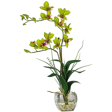 Nearly Natural 1135-GR Dendrobium Floral Arrangements, Green