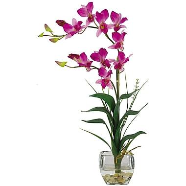 Nearly Natural 1135-PP Dendrobium Floral Arrangements, Purple