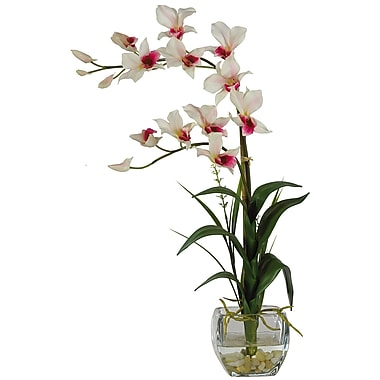 Nearly Natural 1135-WH Dendrobium Floral Arrangements, White