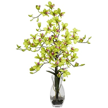 Nearly Natural 1190-GR Dendrobium Arrangements, Green