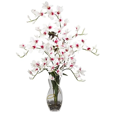 Nearly Natural 1190-WH Dendrobium Arrangements, White