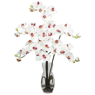 Nearly Natural 1191-WH Phalaenopsis Arrangements, White