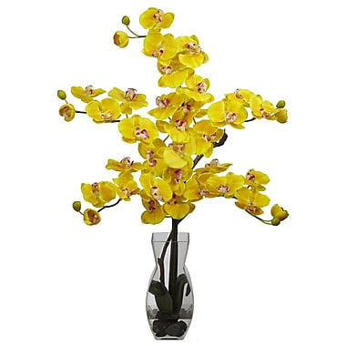 Nearly Natural 1191-YL Phalaenopsis Arrangements, Yellow