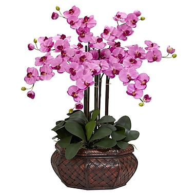 Nearly Natural 1201-MA Large Phalaenopsis Floral Arrangements, Mauve
