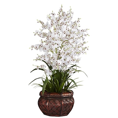 Nearly Natural 1207-WH Dancing Lady Floral Arrangements, White