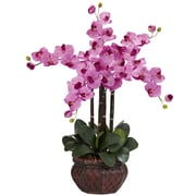 Nearly Natural 1211-MA Phalaenopsis with Vase Floral Arrangements, Mauve