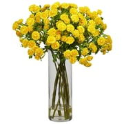 Nearly Natural 1216 Japanese Floral Arrangements, Yellow