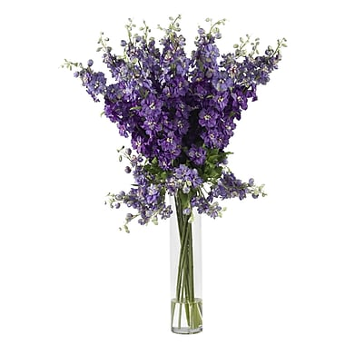 Nearly Natural 1224-PP Delphinium Floral Arrangements, Purple