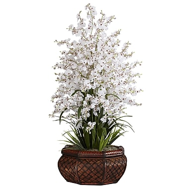 Nearly Natural 1244-WH Large Dancing Lady Floral Arrangements, White