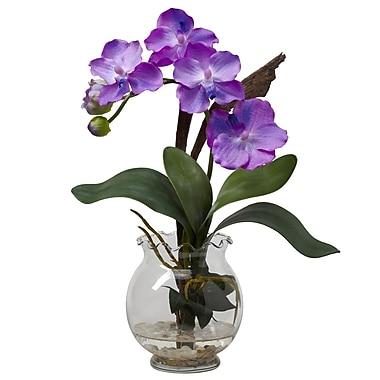 Nearly Natural 1276-PP Mini Vanda Floral Arrangements, Purple