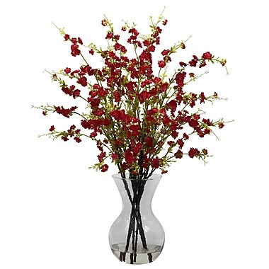Nearly Natural 1315-RD Cherry Blossom Floral Arrangements, Red