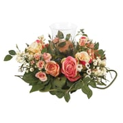 Nearly Natural 4685-AP Rose Candelabrum, Pastel