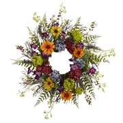 "Nearly Natural 4821 24"" Spring Garden Wreath, Assorted"