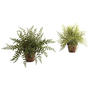 Nearly Natural 4826 Fern Set of 2 Plant in Planter