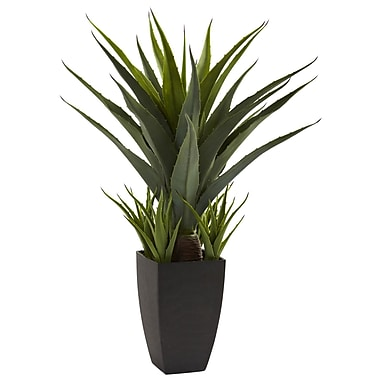 Nearly Natural 4856 Agave Desk Top Plant in Decorative Vase