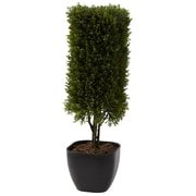 "Nearly Natural 4967 19"" Cedar Column Topiary Plant in Pot"