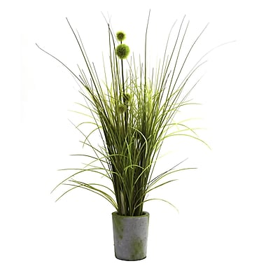 Nearly Natural 4975 Grass and Dandelion Arrangements Plant in Pot