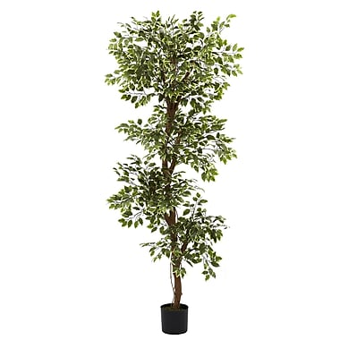 Nearly Natural 5345 6' Variegated Ficus Tree in Pot
