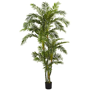 Nearly Natural 5348 6' Curvy Parlor Palm Tree in Pot