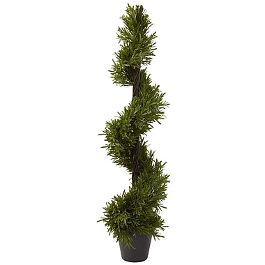 Nearly Natural 5352 Rosemary Spiral Plant in Pot