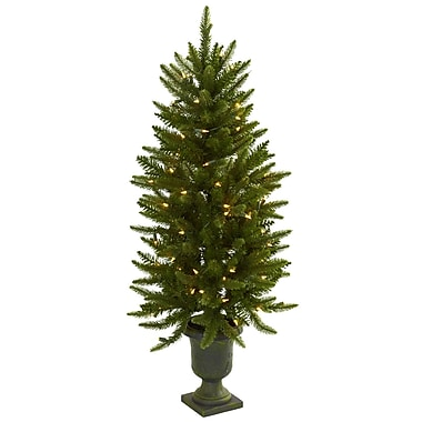 Nearly Natural 5369 Christmas Tree with Lights in Decorative Vase