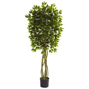 Nearly Natural 5380 Ficus Silk Tree in Pot