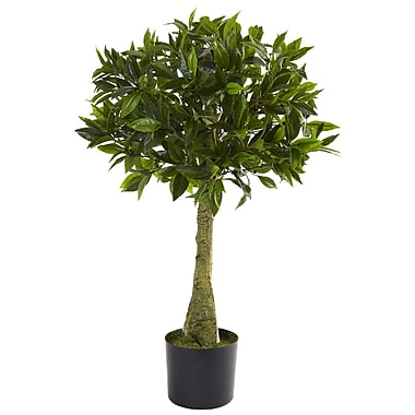 Nearly Natural 5382 3' Bay Leaf UV Resistant Plant in Pot