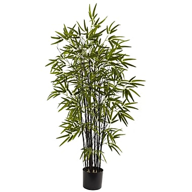 Nearly Natural 5417 4' Black Bamboo Tree in Pot