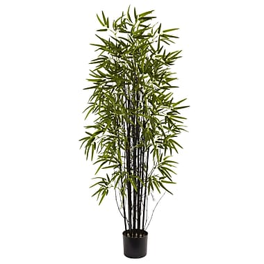 Nearly Natural 5418 5' Black Bamboo Tree in Pot