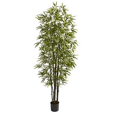 Nearly Natural 5421 7' Green Bamboo Tree in Pot
