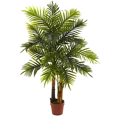 Nearly Natural 5424 4' Areca Palm Tree Real Touch Plant in Pot