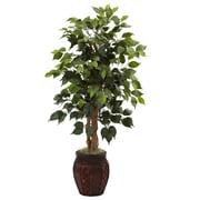 "Nearly Natural 5929 44"" Ficus Tree in Planter"