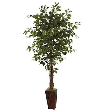 Nearly Natural 5931 6' Ficus Plant in Planter