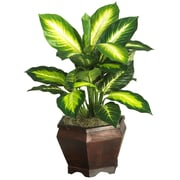 Nearly Natural 6592 Golden Dieffenbachia Silk Plant in Pot