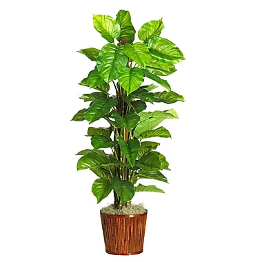 Nearly Natural 6594 Large Leaf Philodendron Plant in Pot