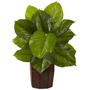 Nearly Natural 6733 Large Leaf Philo Plant in Pot