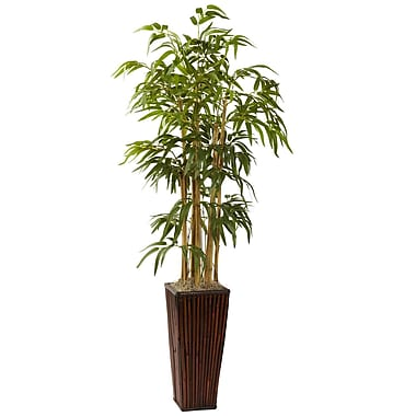 Nearly Natural 6737 4' Bamboo Plant in Planter