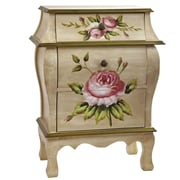 Nearly Natural 7012 Antique Floral Art Night Stand