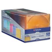 Verbatim – Étui à CD/DVD mince, en couleur