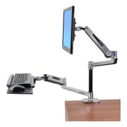 "Ergotron® 45-405-026 42"" Sit-Stand Desk Mount For Flat Panel Display, Polished Aluminum"