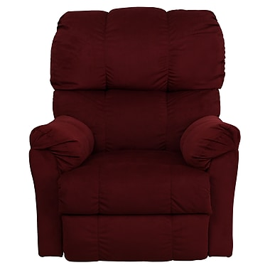 Flash Furniture Contemporary Top Hat Microfiber Rocker Recliner, Berry