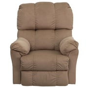 Flash Furniture Contemporary Top Hat Microfiber Rocker Recliner, Coffee
