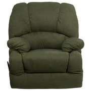 Flash Furniture Contemporary Glacier Microfiber Chaise Rocker Recliner, Olive