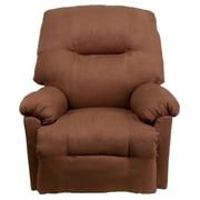 Flash Furniture Contemporary Calcutta Microfiber Power Chaise Recliner, Chocolate