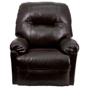 Flash Furniture Contemporary Bentley Leather Chaise Power Recliner, Brown